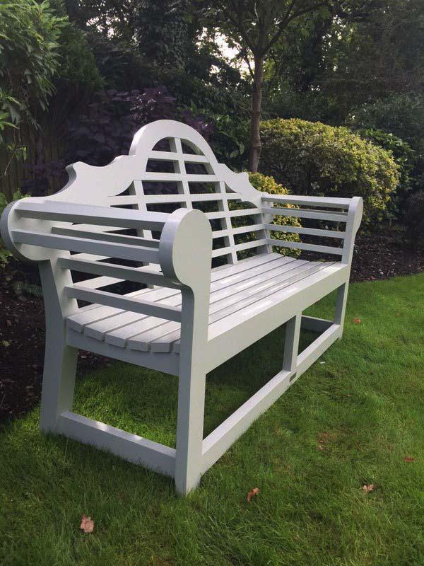 accoya white bench