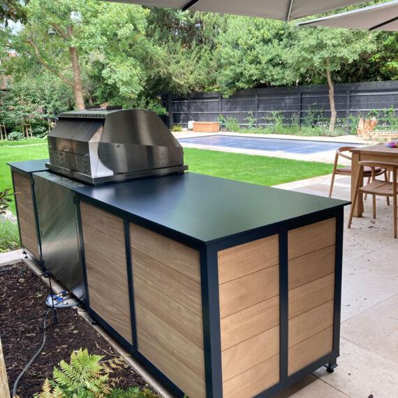 bespoke art deco outdoor kitchen reverse