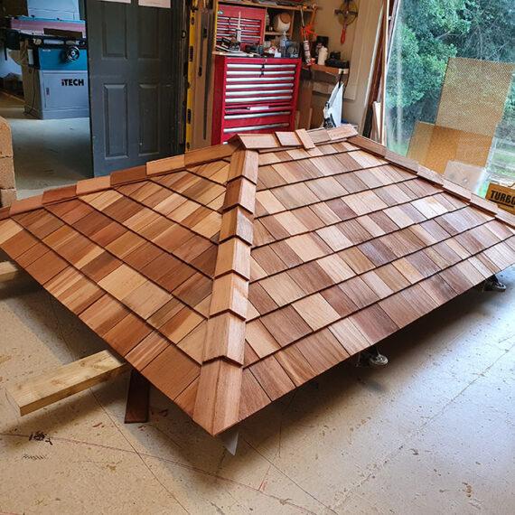 bespoke hardwood finished roof