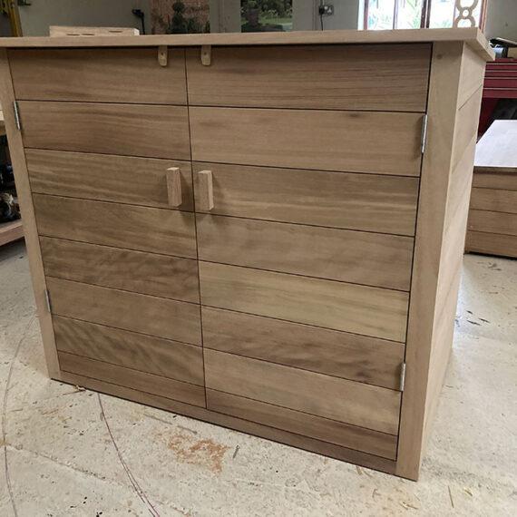 bespoke hardwood garden storage cupboard