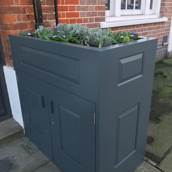 bespoke hardwood planter with storage