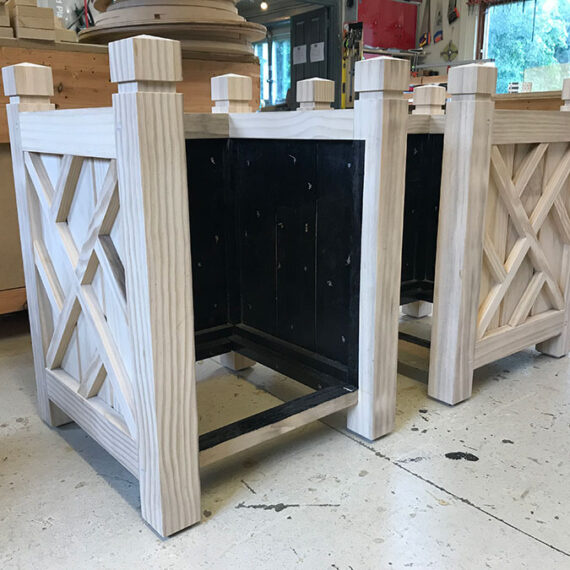 bespoke hardwood wolfson planter with removable sides