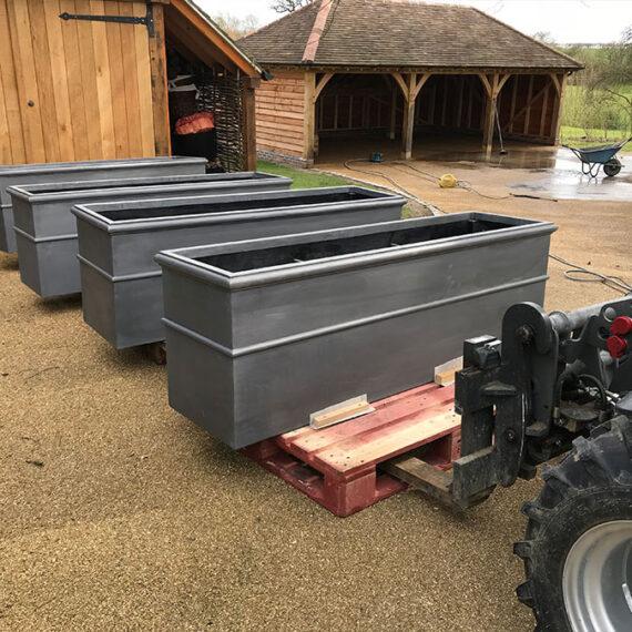 bespoke lead trough planters