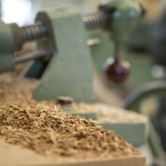 close up of wood shavings