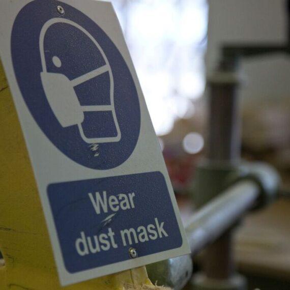 close up of workshop sign