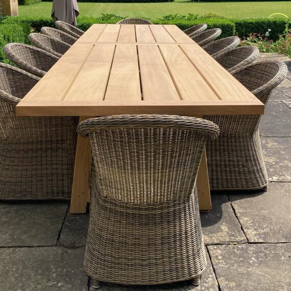 oak country garden table