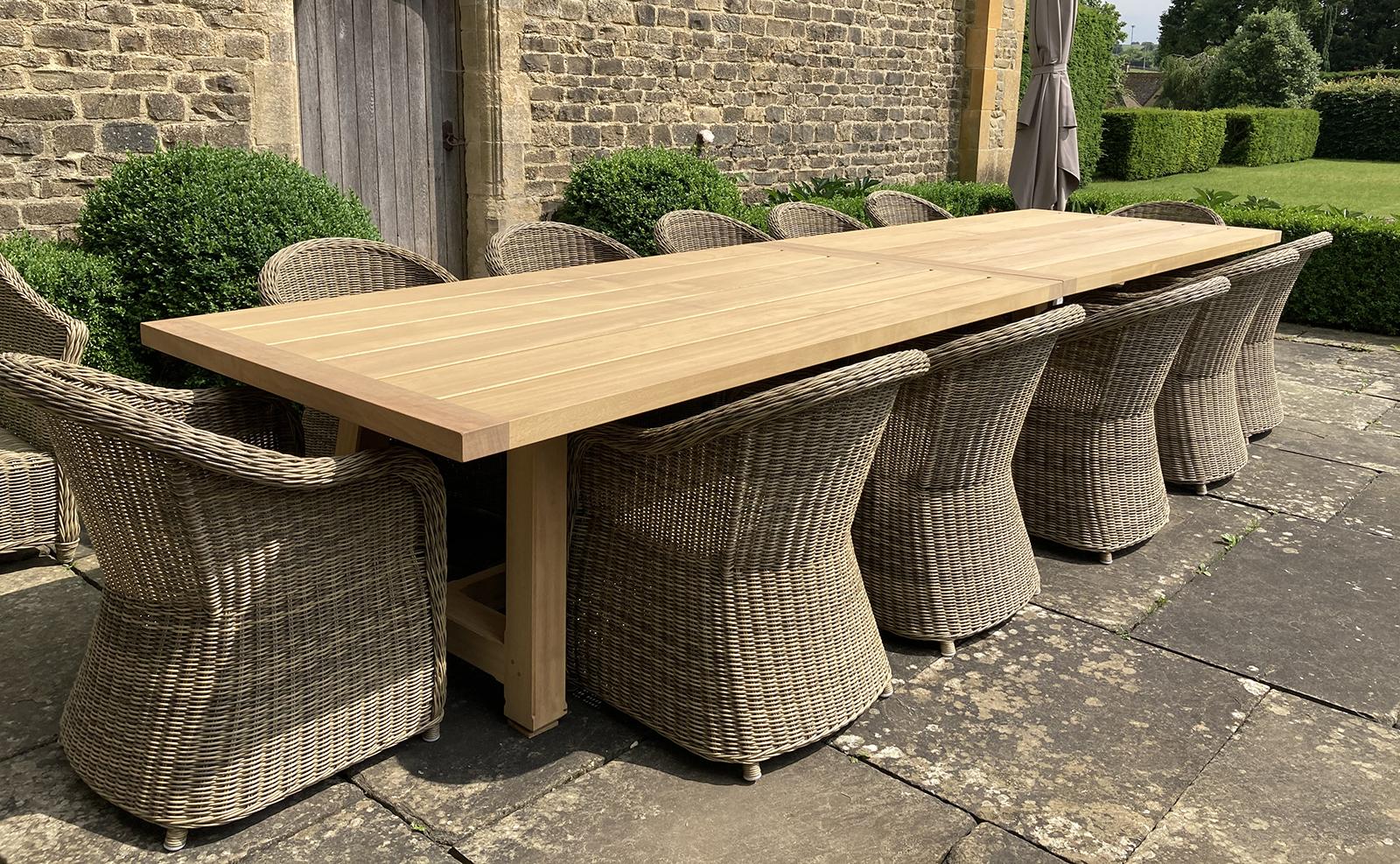 Country Garden Table Long Oxford Planters