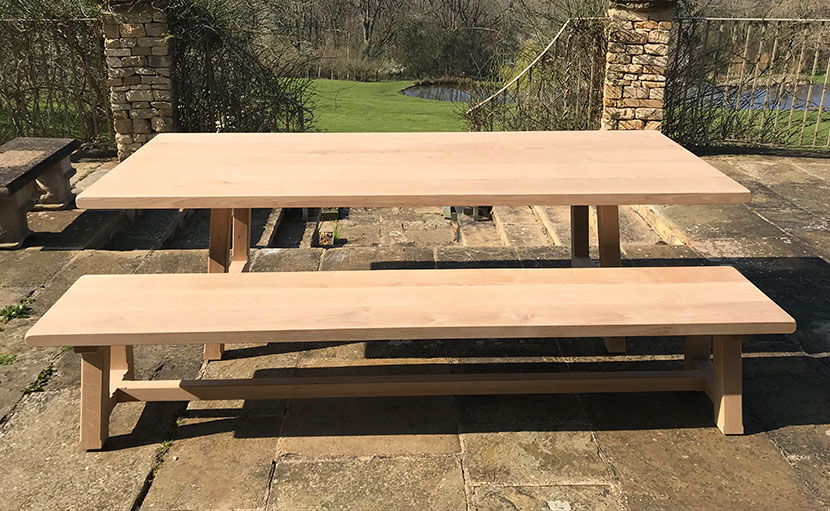 Farmhouse Table and Bench Oxford Planters