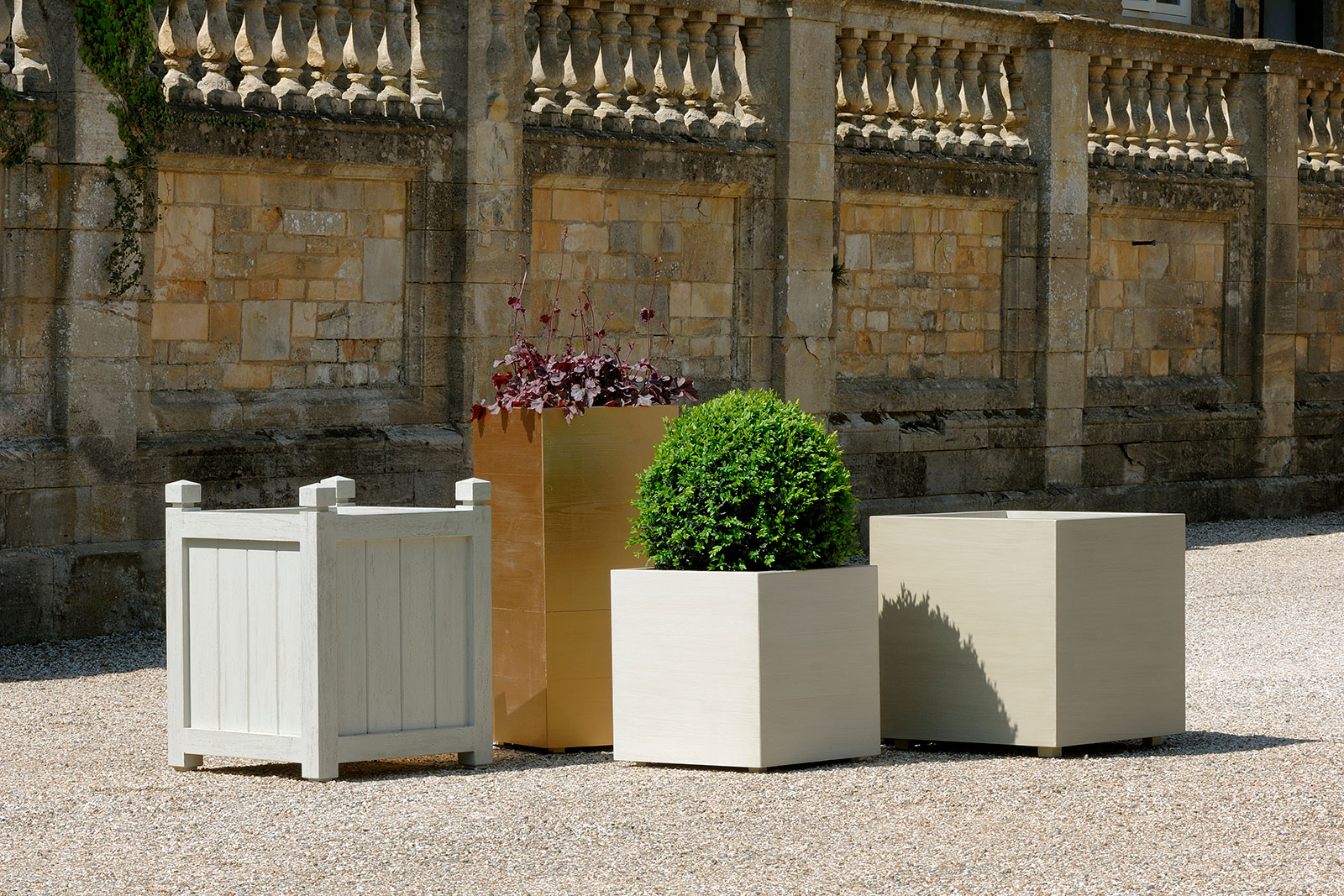 group of bespoke planters