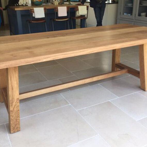 oak handmade farmhouse table