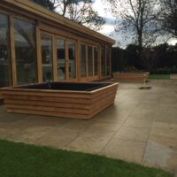 large wycliffe planter ready for filling