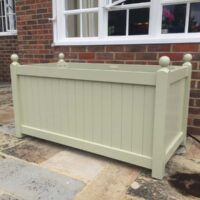 mansfield trough planter painted ready for planting