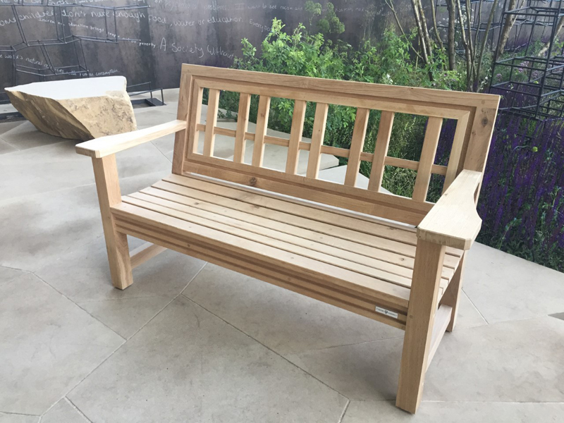 oxford planters hardwood garden bench