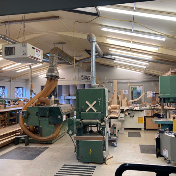 view in the workshop
