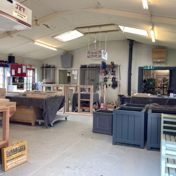 view inside of the workshop