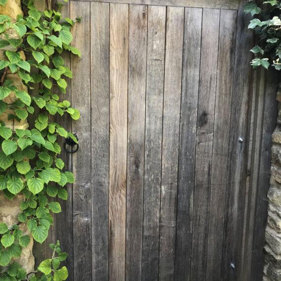 beautiful oak security gate