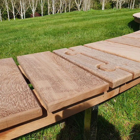 bespoke curved bench detail