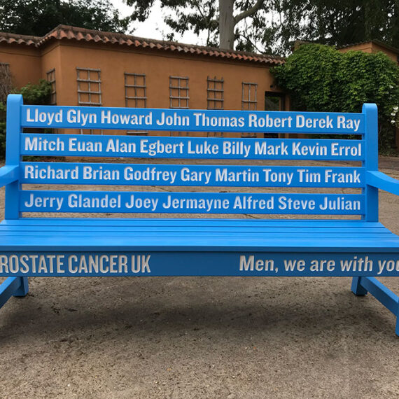 bespoke bench for prostate cancer uk