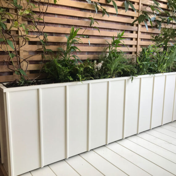 bespoke fluted trough planter