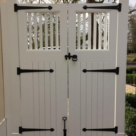 bespoke gates and posts in accoya