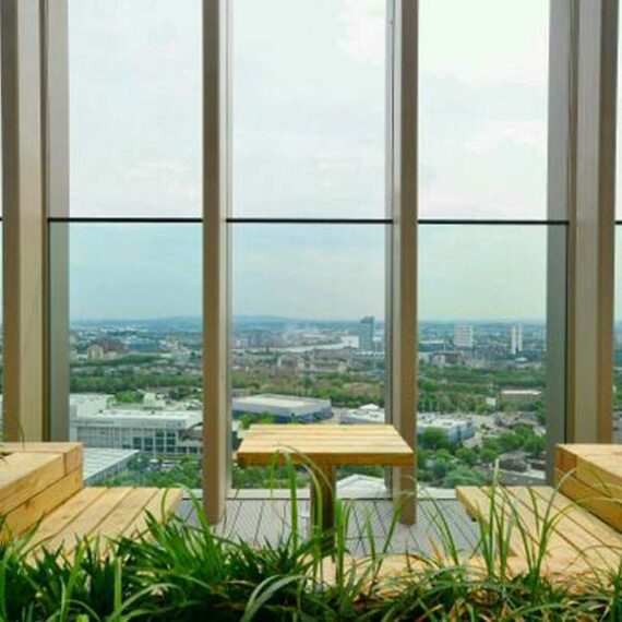 bespoke hardwood seating with table