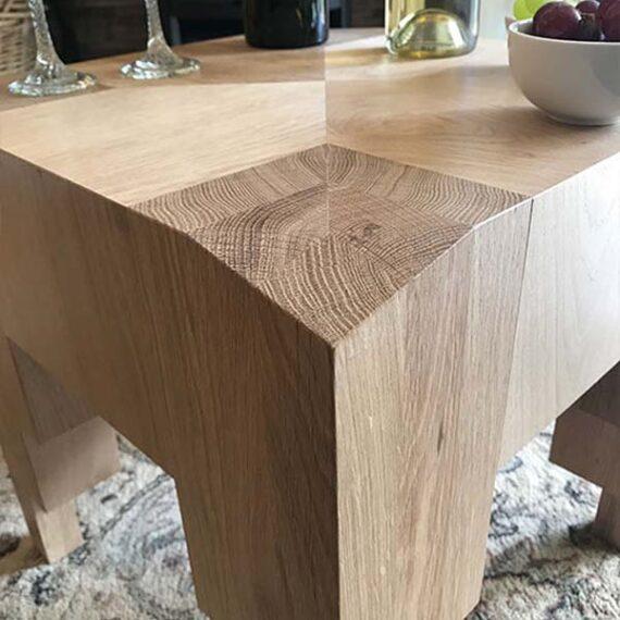 bespoke hardwood table detail