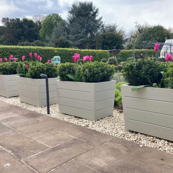 bespoke keble no2 trough planters