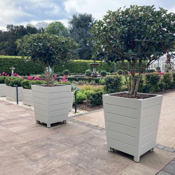 bespoke keble no2 trough planters in acoya