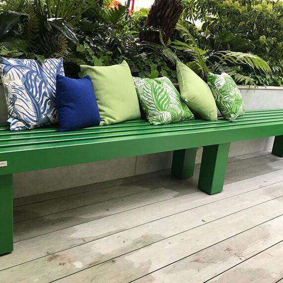 bespoke painted hardwood bench