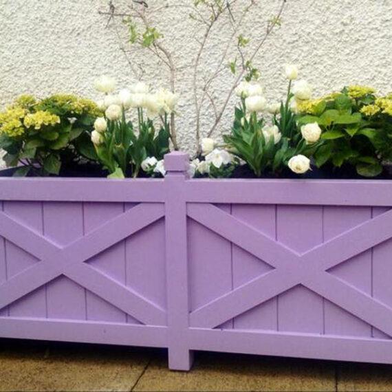 bespoke painted hardwood trough planter