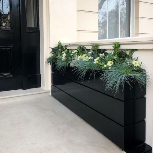 bespoke trough planter based on london architecture