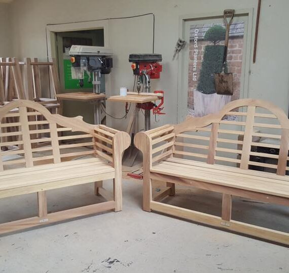 collection of benches in the workshop