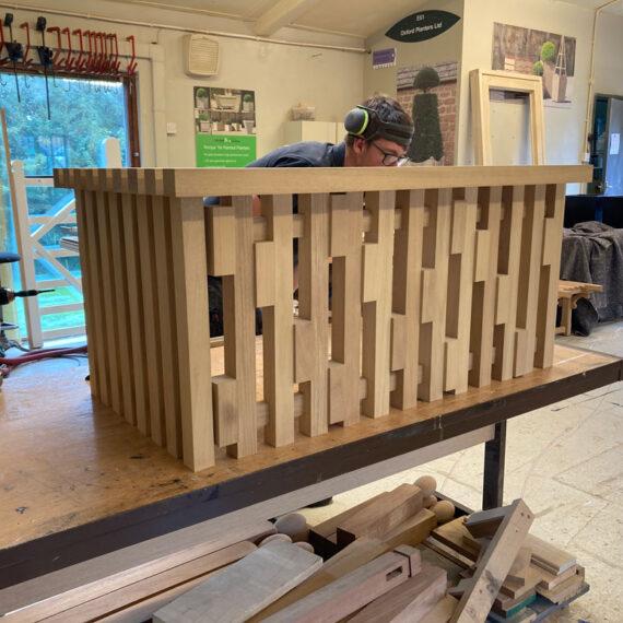 designer fluted garden bench