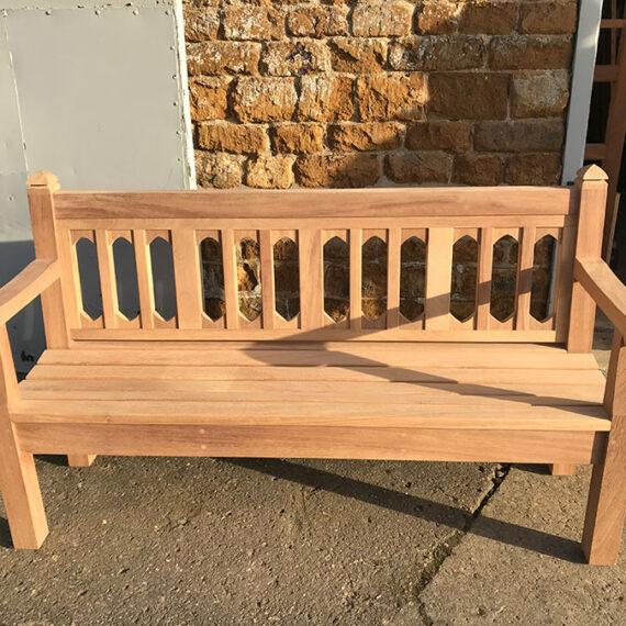 detailed outside hardwood bench