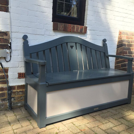 handmade bespoke bench with storage