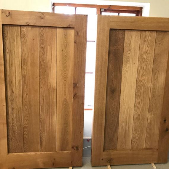 solid oak frame ledged and braced gates