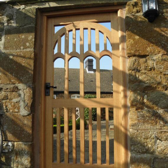 stunning detail oak gate