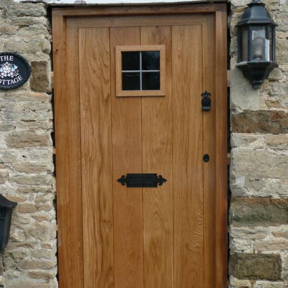traditional oak front door with bs locks